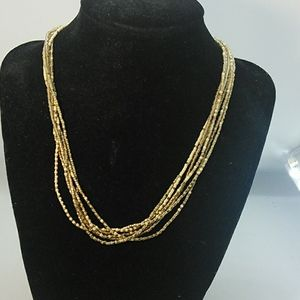 Jewelry - Sead bead Necklace gold colors